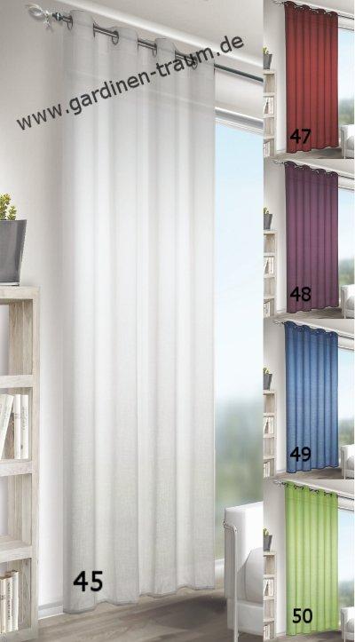 halbtransparent einfarbig uni schals gardinen. Black Bedroom Furniture Sets. Home Design Ideas
