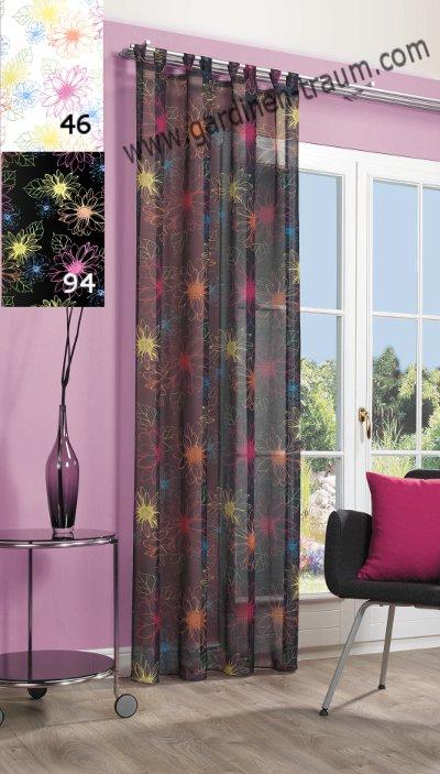 halbtransparent bunt schals gardinen. Black Bedroom Furniture Sets. Home Design Ideas