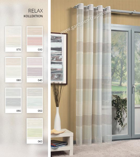 Transparent bunt schals gardinen for Raumgestaltung querstreifen